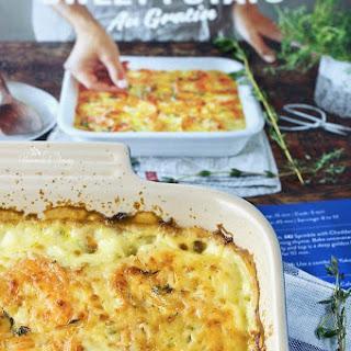 Milk Calendar Hearty Sweet Potato Au Gratin Recipe
