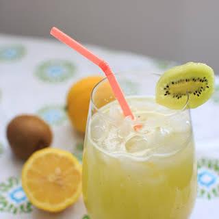 Homemade Kiwi Lemonade.