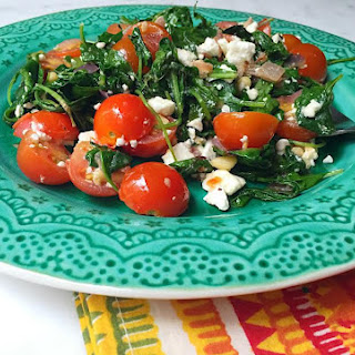 Sautéed Greens and Tomatoes with Feta