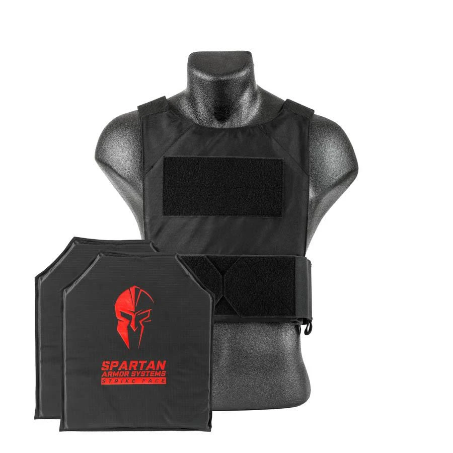 Spartan Armor Level IIIA Soft Body Armor and DL Concealed Black Plate Carrier