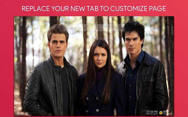 The Vampire Diaries Wallpaper HD New Tab