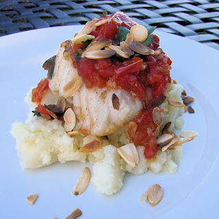 Oven Roasted Halibut with Red Pesto