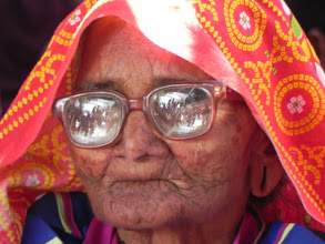 Photo: This 93 year old remarked after the lighting of her village that she could now die peacefully