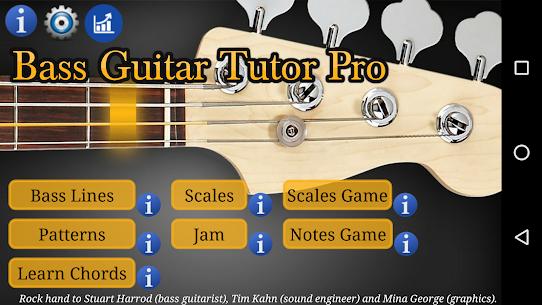 Bass Guitar Tutor Pro Re-engineered bass lines MOD (Paid) 1
