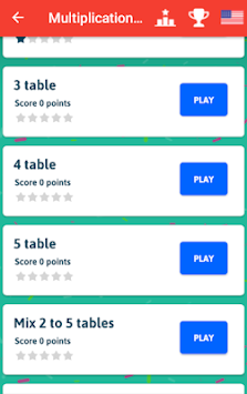 Multiplication Tables Game apk screenshot