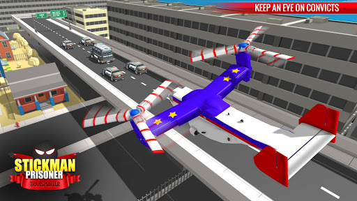 US Police Stickman Criminal Plane Transporter Game apktram screenshots 2