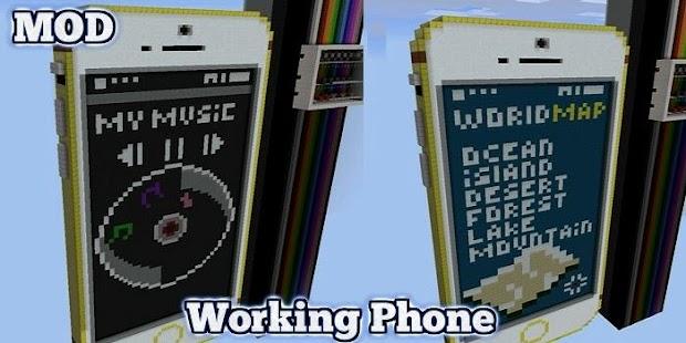 Working Phone Mod MCPE - náhled