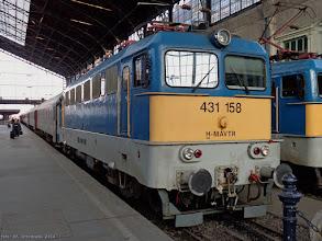 "Photo: 431 158 (MAV), IC ""Kiskun"" Szeged - Budapest Nyugati {Budapest Nyugati; 2014-02-04}"