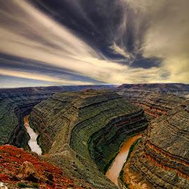 Gooseneck by Marco Caciolli - Landscapes Travel ( desert, sky, arizona, colorado, gooseneck, travel, river )