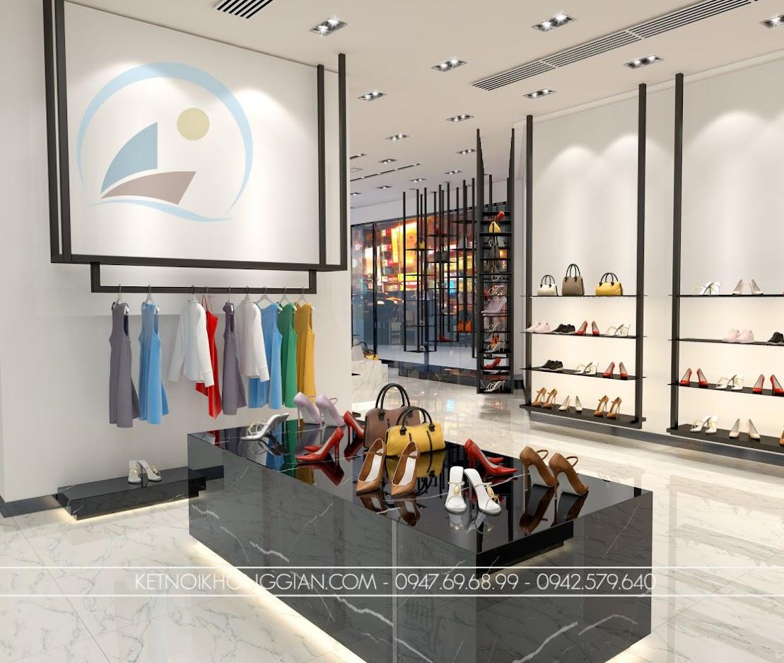 thiết kế cửa hàng giày dép nhỏ