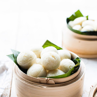 Filipino Steamed Rice Cakes.