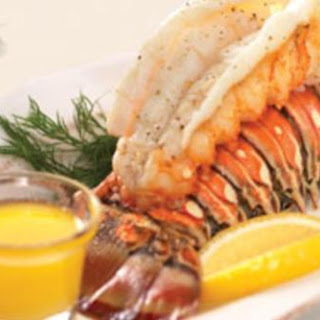 Broiled Lobster Tails With Clarified Butter.