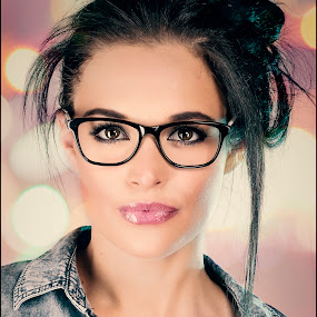 Sabrina by Adrian Chinery - People Portraits of Women ( fashion, johannesburg, portfolio, south africa, beauty, portrait, eyes, woman, photographer, denim, lady, eyewear, adrian chinery, classic )