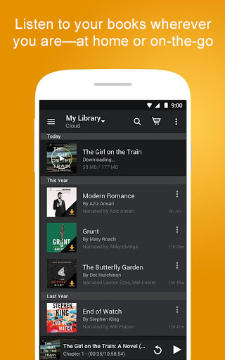 Screenshots of Audiobooks from Audible for iPhone