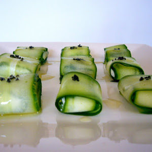 Green Sushi with Fresh Goat Cheese
