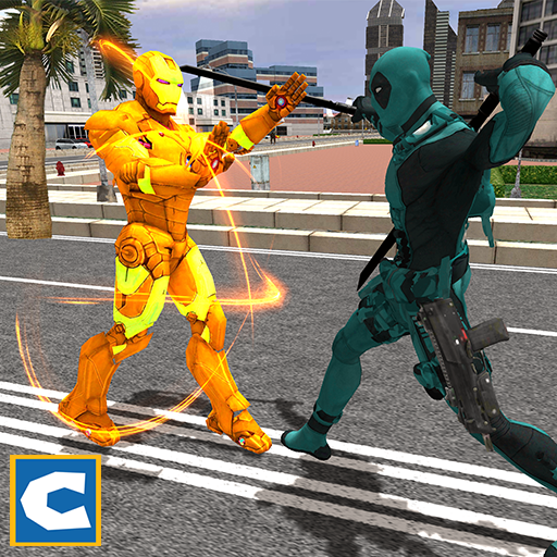 Flying Iron Robot Hero