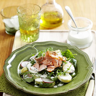 Potato and Trout Salad with Mint Dressing.