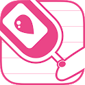 Simple blood glucose note icon