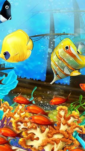 Tropical fish.Live wallpaper