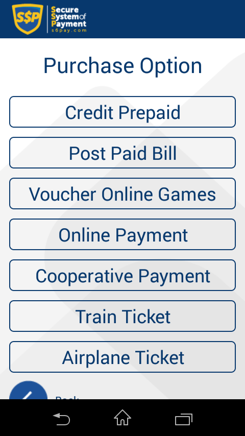 SSP (Secure System of Payment)- screenshot