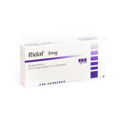 Risperidona Ridal 3 mg x 20 Comprimidos
