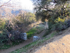 Photo: View south from the hairpin curve toward the upper terminus of Colby Trail