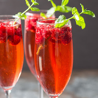 Raspberry Champagne Rum Punch