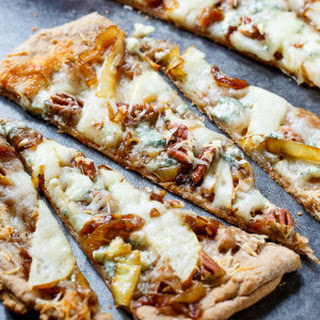 Cheesy Caramelized Onion Flatbreads.