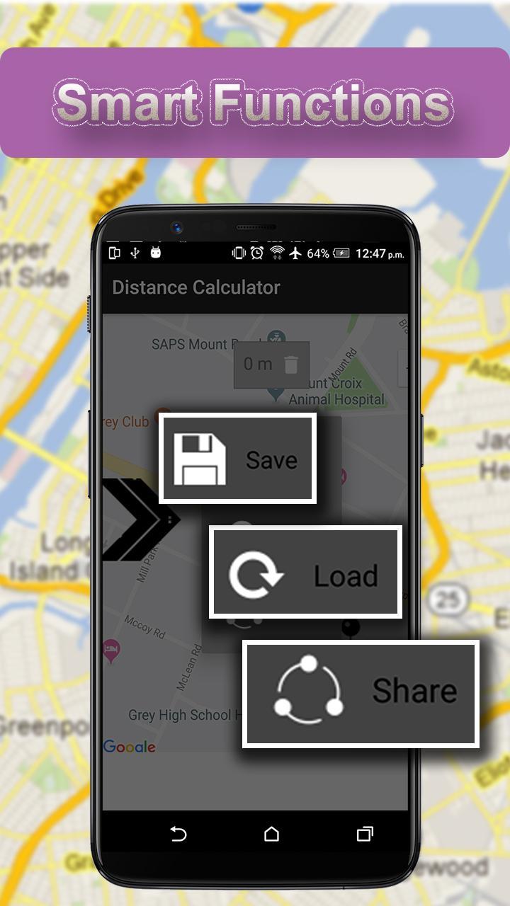 Скриншот Измерение площади и расстояния полей
