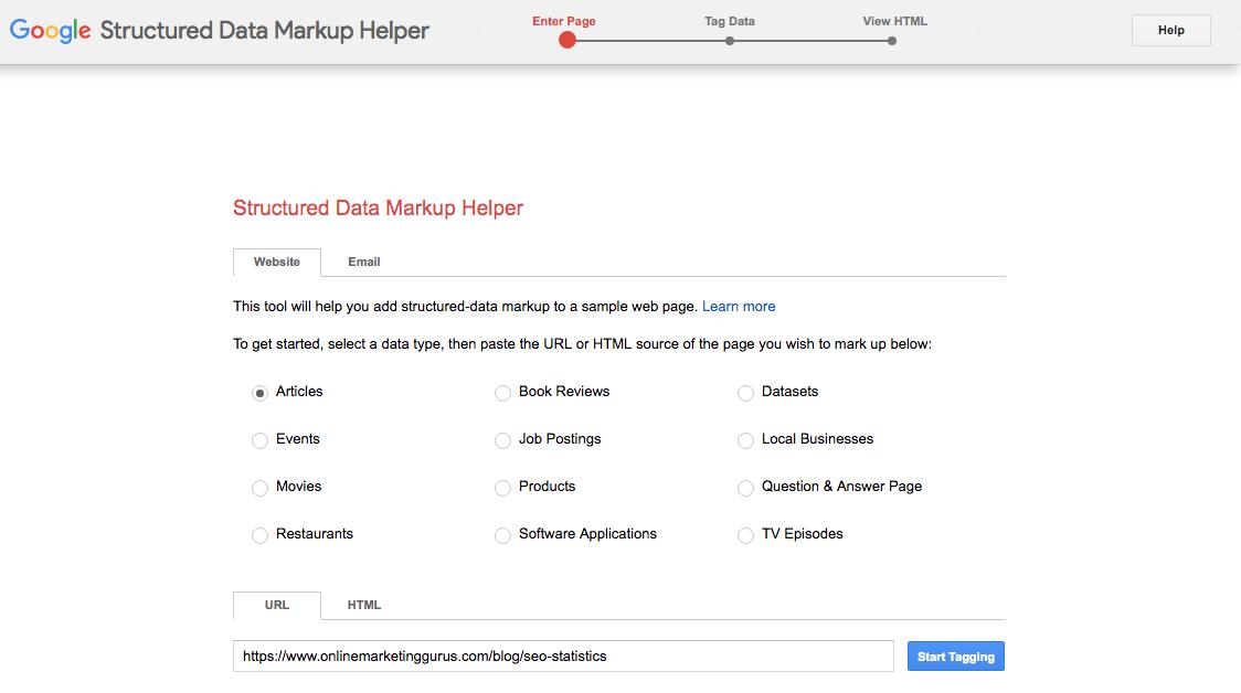 Tools for Schema Markup - Google Structured Data Markup Helper