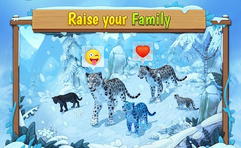 Snow Leopard Family Sim Online  Apk Download For Android and Iphone 1