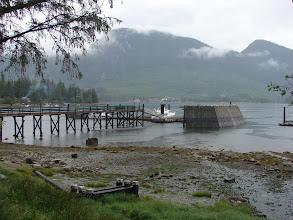 Photo: The dock at Big Bay at low tide.