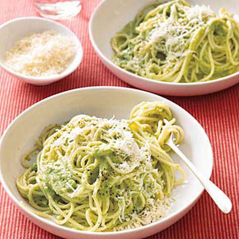 Spaghetti with Parsley Pesto Rezept | Yummly