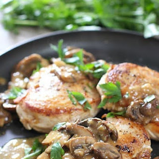 Easy Chicken Breasts with Mushroom Pan Sauce.