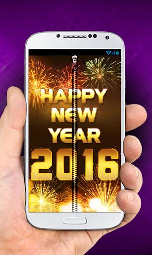 New Year Zipper Lock Screen