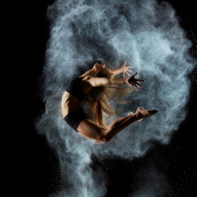 Nina's Exposion by William Kendzierski - People Portraits of Women ( models, dancers, high speed photography, acrobat, dance )