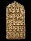 พระซาวแปด เนื้อตะกั่วลงรักปิดทองจากกรุ จารหลังเต็มๆ+ มาพร้อมบัตรดีดีพระ