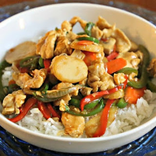 Thai Spicy Basil Chicken Stir-Fry.