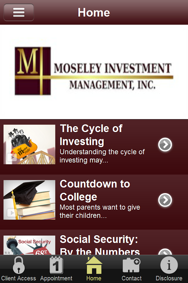 Moseley Investment Management- screenshot