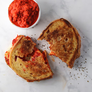 Roasted Red Pepper and Pesto Grilled Cheese.