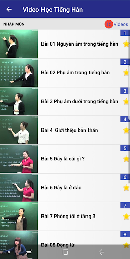 15000 Video Hoc Tieng Han - screenshot