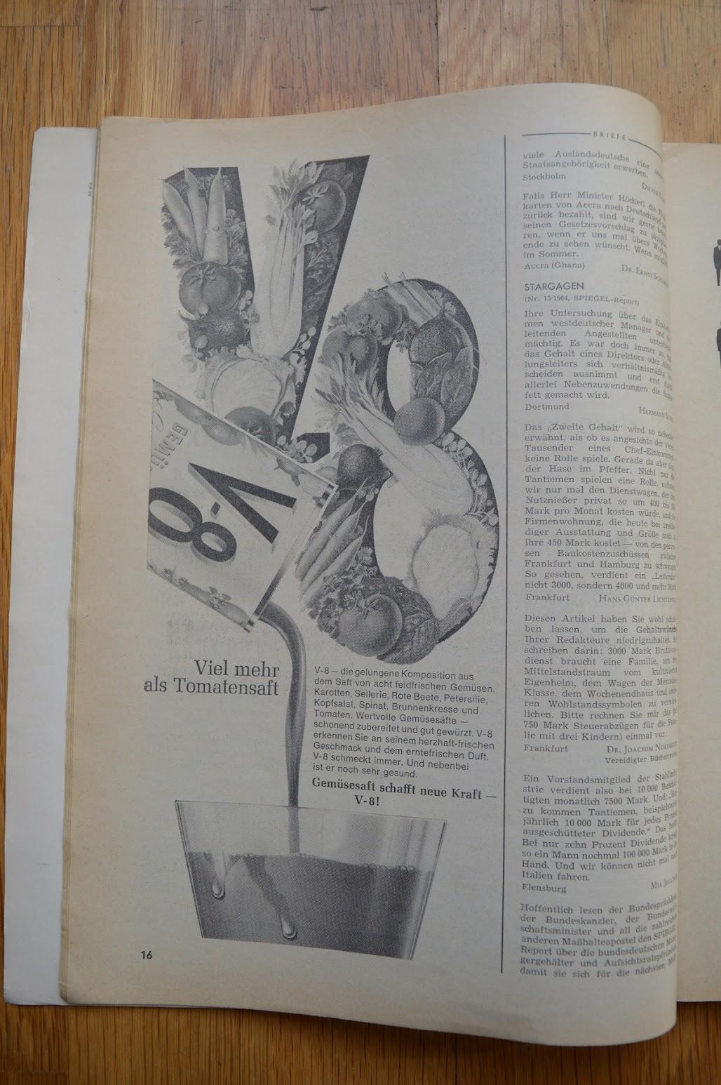 DER SPIEGEL, 29. April 1964 - Werbung für Tomatensaft