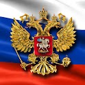 Flag and Coat of Arms Russia icon