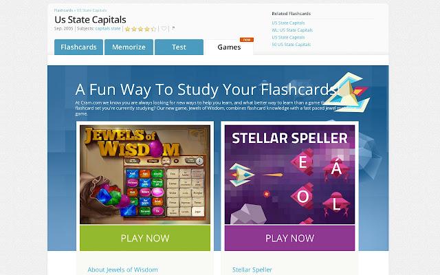 Cram Flashcards Chrome Web Store
