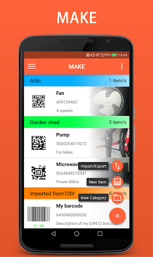 Barcode Organizer  screenshots 2