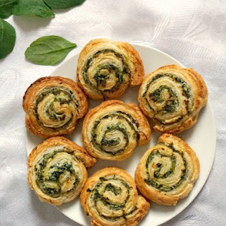 Spinach Pinwheels with Ricotta.