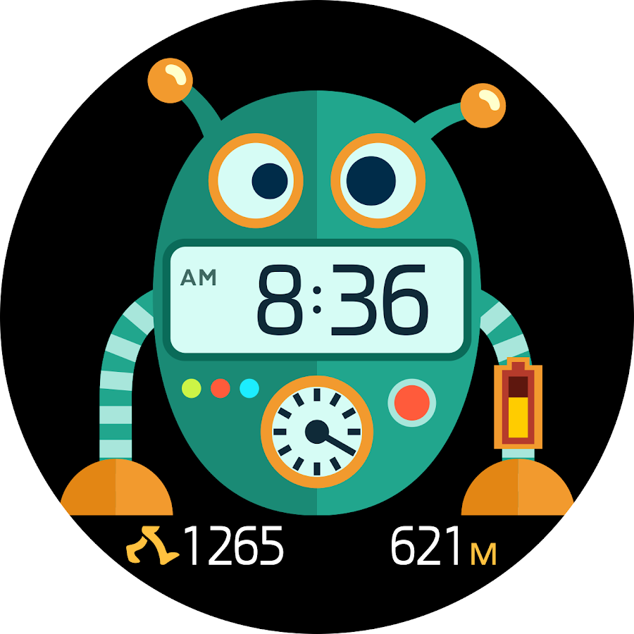 RoboClock Animated Watch Face
