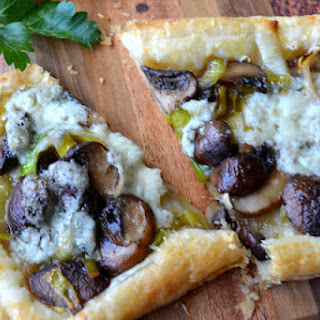 Leek, Mushroom and Gorgonzola Tarts