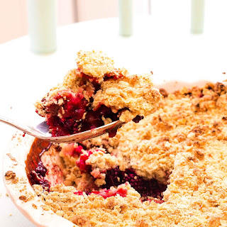 Simply The Best Apple & Blackberry Crumble with a Gluten Free Alternative.