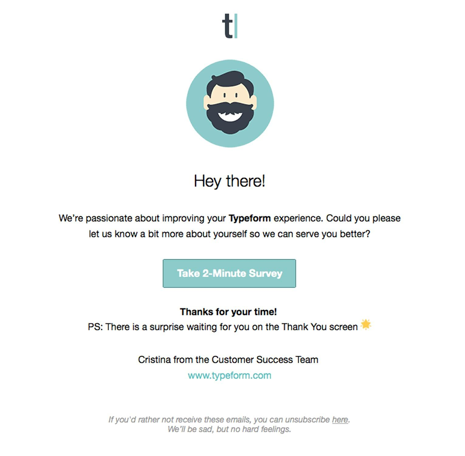 Typeform email example